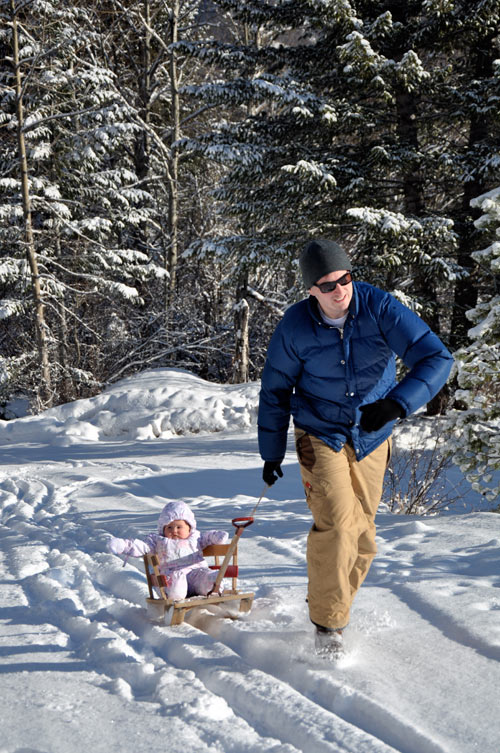 Albertine, Ben and Jackson in Fernie BC - Winter Family Activities