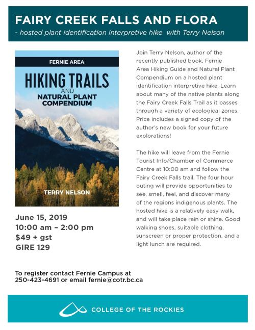 Hiking Trails and Natural Plant Compendium, Fairy Creek Falls with Terry Nelson